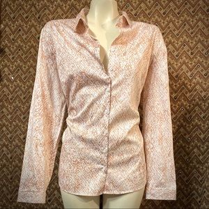 NEW YORK & COMPANY Snake Print Stretch Blouse XL